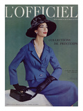 L'Officiel  March 1957 - Tailleur de Pierre Balmain en Cheviotte Poncho de Labbey