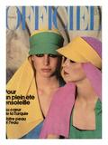 L'Officiel  1976 - Créations de Nina Ricci Boutique  Visières Aux Couleurs