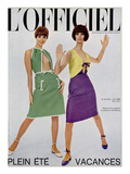L'Officiel  June 1965 - Robes de Guy Laroche en Toile de Lin de Moreau