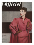 L'Officiel  September 1952 - Tailleur de Christian Dior