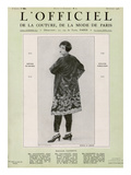 L'Officiel  September 1926 - Mlle Falconetti en Martial & Armand