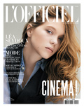 L'Officiel  May 2010 - Léa Seydoux Porte une Chemise en Soie  Ralph Lauren Collection