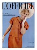 L'Officiel  April 1965 - Deux-Pièces de Pierre Cardin en Toile de Chatillon  Mouly  Roussel