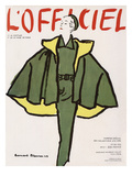 L'Officiel  Winter Special Issue - Ensemble de Robert Piguet  Tissu Lesur