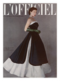 L'Officiel  December 1950 - Robe du Soir de Jacques Fath