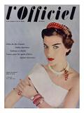 L'Officiel - Bijoux de Cartier  Robe de Grès