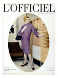 L'Officiel  October 1957 - Robe de Balenciaga