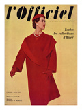 L'Officiel  October 1954 - Hubert de Givenchy  Manteau en Lainage de Ducharne