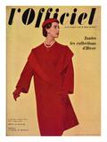 L'Officiel  October 1954 - Hubert de Givenchy  Manteau en Lainage de Ducharne