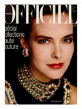 L'Officiel  March 1986 - Carole Bouquet