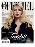 L'Officiel 2005 - Scarlett Johansson Porte un Trench en Soie Noir Pailleté Dior par John Galliano
