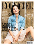 L'Officiel  March 2010 - Marion Cotillard Porte une Robe en Soie  Dior