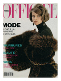 L'Officiel  October-November 1991 - Nicole Habillée Par Yves Saint Laurent Fourrures