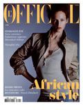 L'Officiel  2005 - Vivien Porte une Veste Saharienne en Coton À Col de Velours  Gucci