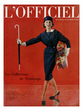 L'Officiel  March 1959 - Tailleur de Christian Dior en Lainage Matignon de Dormeuil