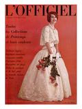 L'Officiel  April 1961 - Robe de Jacques Heim en Organdi de Coton Longfibre Brodé de Pierre Brivet