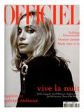 L'Officiel  2003 - Emmanuelle Béart Porte une Veste en Coton et Soie Noire Dolce & Gabbana