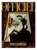 L'Officiel  December 1990-January 1991 - Retratto Di Gianni Versace 1989