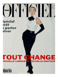L'Officiel  August 1992 - Daniela Pestova en Karl Lagerfeld