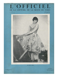 L'Officiel  January 1927 - Marjorie Moss en Robe de Worth