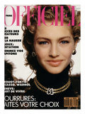 L'Officiel  November 1989 - Michaela Porte une Pelisse d'Yves Saint Laurent