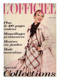 L'Officiel  1973 - Cinq Tendances de La Mode de Printemps dans Ce Modèle d'Emanuel Ungaro