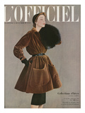 L'Officiel  September 1950 - Ensemble de Christian Dior en Velours de Marcel Guillemin