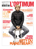 L&#39;Optimum  April 2011 - Owen Wilson Porte une Doudoune en Nylon Moncler