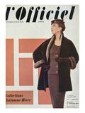 L'Officiel  September 1954 - Ensemble de Christian Dior