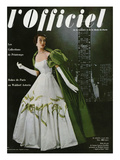 L'Officiel  April 1953 - Robe du Soir de Jean Lanvin (Castillo)