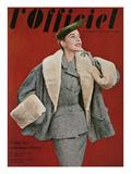 L'Officiel  October 1953 - Ensemble de Pierre Balmain  en Tweed de Rodier