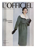 L'Officiel  October 1956 - Givenchy  Manteau en Velours Côtelé de Gerondeau