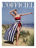 L&#39;Officiel - Jacques Heim  Ensemble de Plage en Coton