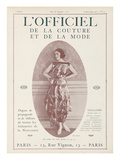 L'Officiel  September 15 1921 - Réverie d'Opium  Robe Jean Patou