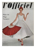 L'Officiel  June 1953 - Robe À Danser de Hubert de Givenchy en Shirting Empesé