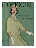 L'Officiel  March 1961 - Tailleur de Christian Dior en Tilfiz de Lesur