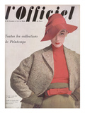 L'Officiel  April 1952 - Ensemble de Jacques Fath  Veste en Tweed de Lesur  Blouse en Jersey