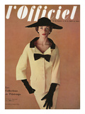L'Officiel  March 1953 - Ensemble de Jacques Fath