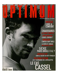 L'Optimum  April-May 1999 - Vincent Cassel Porte un Tee-Shirt Col V en Coton Chiné Calvin Klein