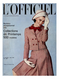 L'Officiel  March 1964 - Tailleur de Christian Dior