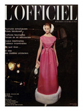 L'Officiel  December 1962 - Robe du Soir d'Yves Saint-Laurent en Tundra d'Abraham