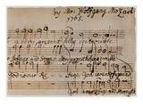 Mozart: Motet Manuscript
