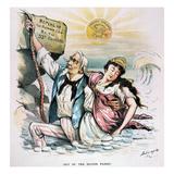 Free Silver Cartoon  1893