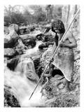 Hupa Fisherman  c1923