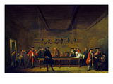 Paris: Billiards  1725