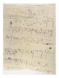 Beethoven Manuscript  1826