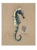 Vintage Linen Seahorse