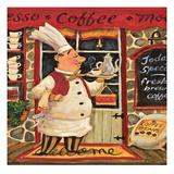 Coffee Chef Reproduction d'art par K. Tobin