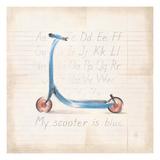 My Scooter Reproduction d'art par Lauren Hamilton