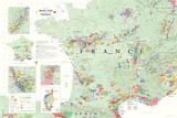 Carte des vins en France, Poster Poster